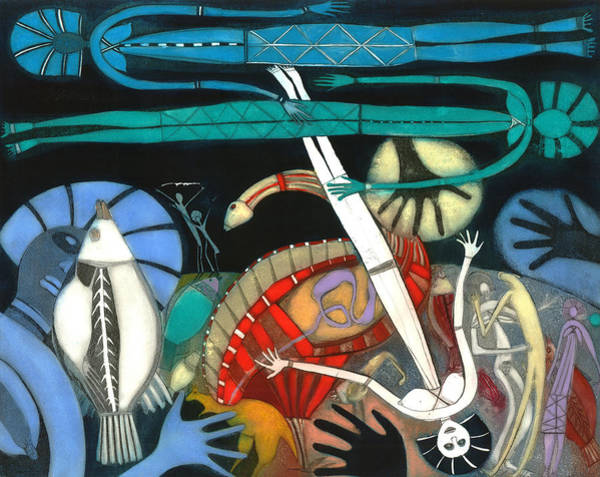 Aborigine Painting - The Dream Of The Fish by Annael Anelia Pavlova