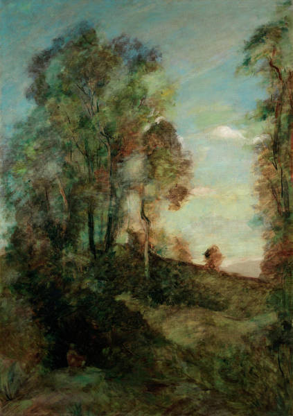 Dreamer Wall Art - Painting - The Dreamer In The Clearing by Jean-Baptiste-Camille Corot