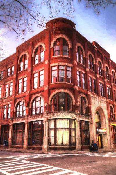 Photograph - The Drhumor Building In Asheville North Carolina Painting by Carol Montoya