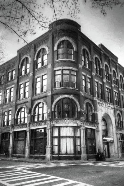 Photograph - The Drhumor Building In Charcoal by Carol Montoya