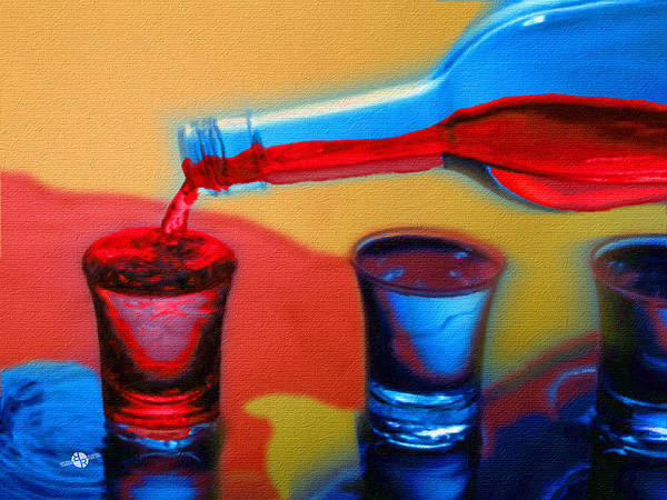 Painting - The Drink That Inspires You Ode To Addiction by Tony Rubino