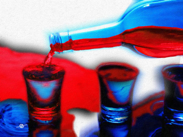 Painting - The Drink You Can Handle Ode To Addiction by Tony Rubino