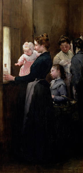 Wall Art - Painting - The Drop Of Milk In Belleville by Henri Jules Jean Geoffroy