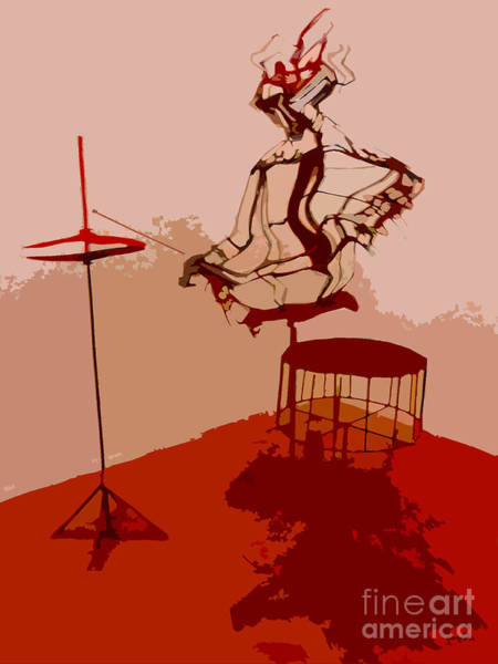 Cool Jazz Digital Art - The Drummer by Ketti Peeva