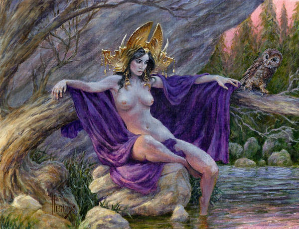 Dryad Wall Art - Painting - The Dryad's Throne by Richard Hescox
