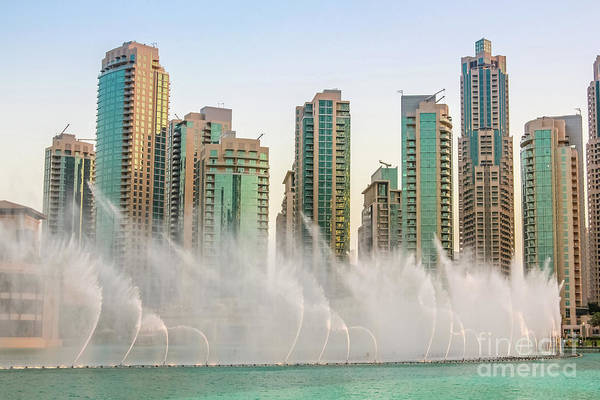 Wall Art - Pyrography - The Dubai Fountain by Benny Marty