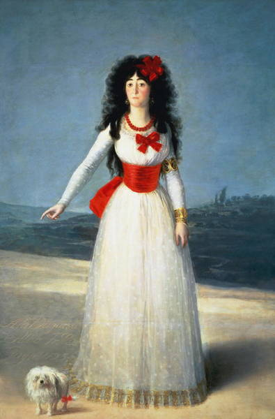 Camomile Painting - The Duchess Of Alba by Francisco Goya