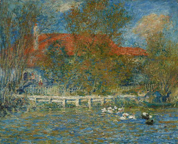 Painting - The Duck Pond by Auguste Renoir