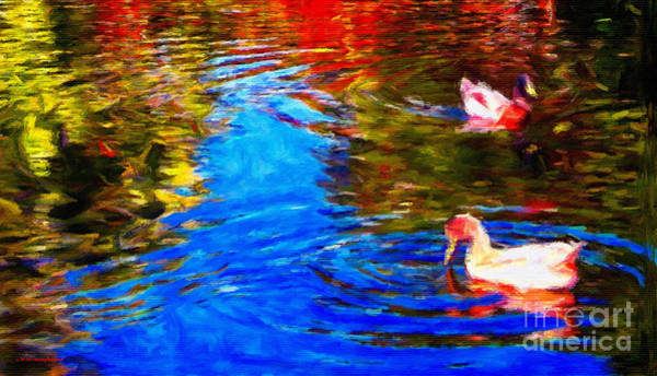 Claude Monet Photograph - The Duck Pond by Jerome Stumphauzer