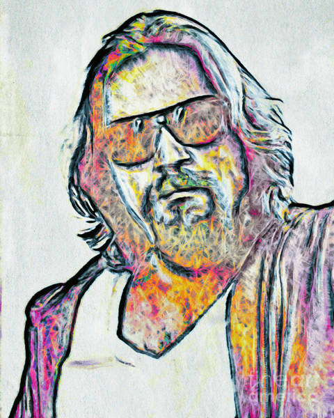 The Big Lebowski Painting - The Dude by GabeZ Art