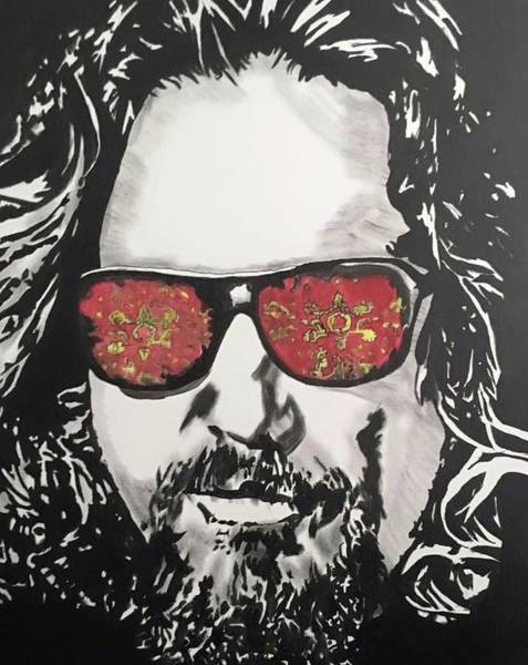 The Big Lebowski Painting - The Dude by Luke Glasscock