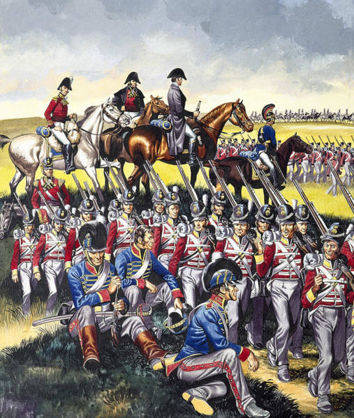 Marching Painting - The Duke Of Wellington by Ron Embleton