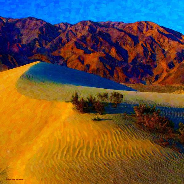 Digital Art - The Dunes At Dusk by Chuck Mountain