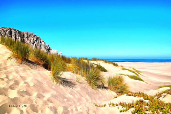 Morro Bay Painting - The Dunes At Morro Bay California by Barbara Snyder