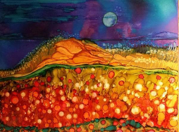 Painting - The Dunes At Night by Betsy Carlson Cross