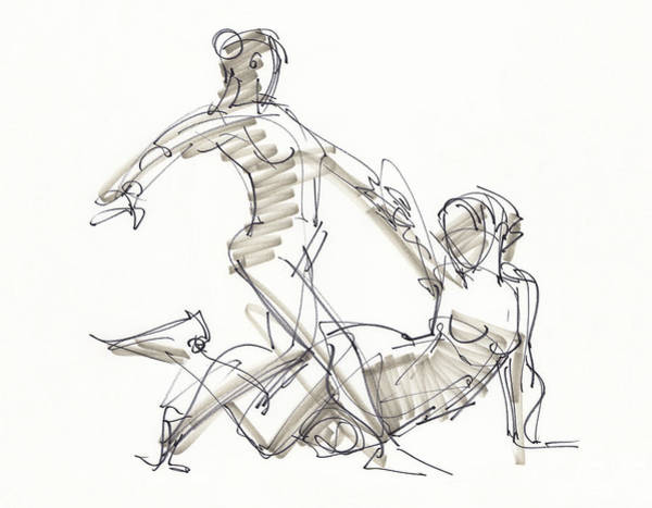 Drawing - The Duo by Judith Kunzle