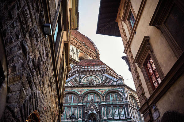 Photograph - The Duomo Surrounded By Medieval Buildings In Florence, Italy by Fine Art Photography Prints By Eduardo Accorinti