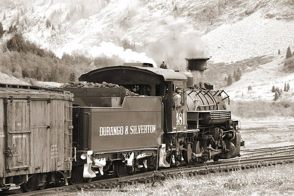 Steam Engine Photograph - The Durango And Silverton Into The Mountains by Mike McGlothlen