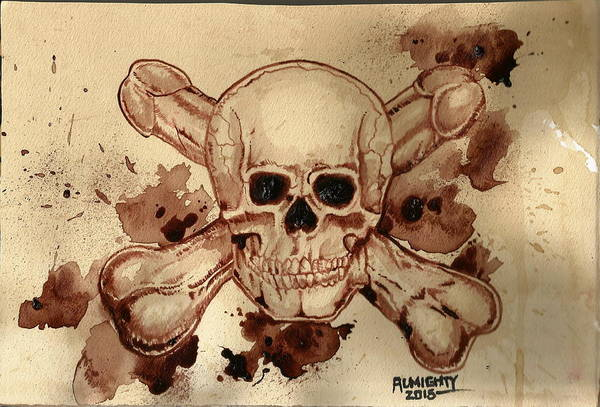 It Professional Painting - The Dwarves  Skull And Cross Boners by Ryan Almighty