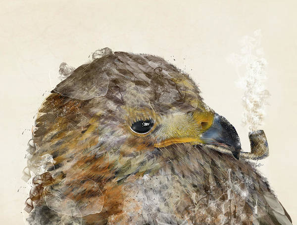 Wild Bird Painting - The Eagle by Bri Buckley