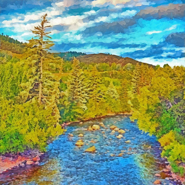 Digital Art - The Eagle River In Early Fall by Digital Photographic Arts