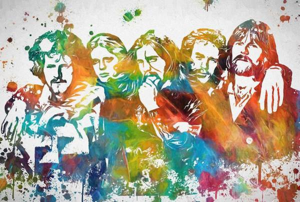 Wall Art - Painting - The Eagles Paint Splatter Tribute by Dan Sproul