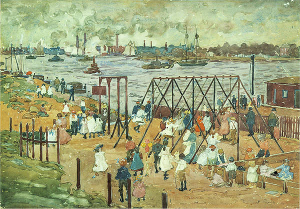 Wall Art - Photograph - The East River by Maurice Prendergast