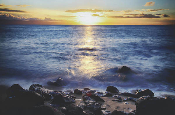 Maui Sunset Photograph - The Ebb And Flow by Laurie Search