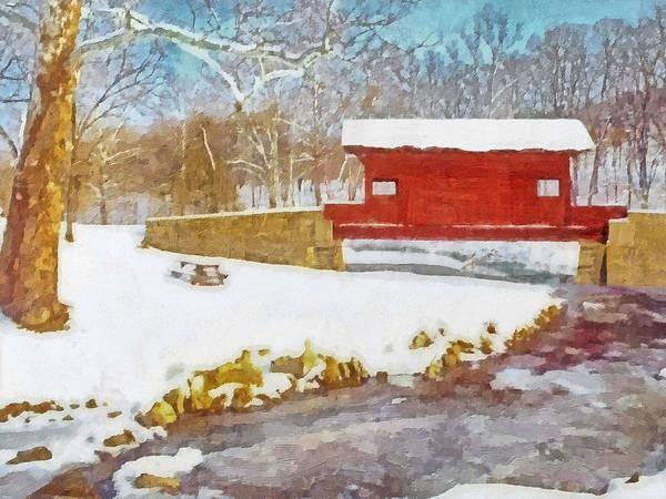 Digital Art - The Ebenezer Bridge In Winter by Digital Photographic Arts