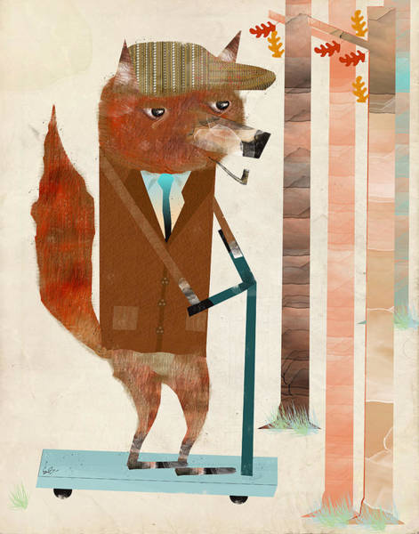 Skating Painting - The Eccentric Mr Fox by Bri Buckley