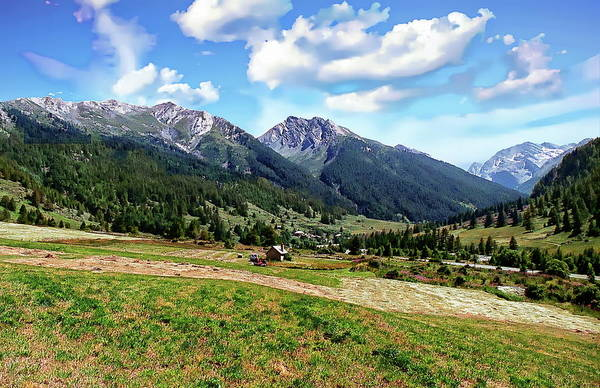 Photograph - The Echalp Mountain Range by Anthony Dezenzio