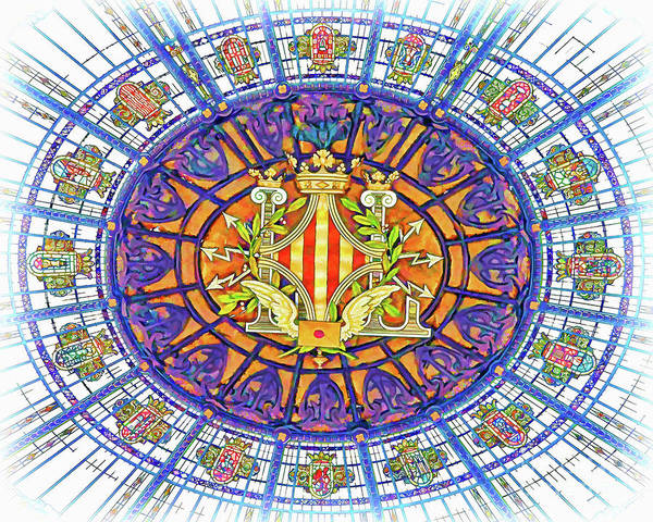 Leaded Glass Painting - The Effect Of Glass Dome by GabeZ Art