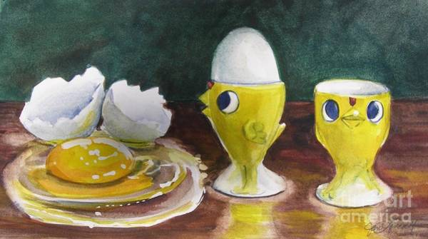 Painting - The Egghead And The Airhead by Jane Loveall