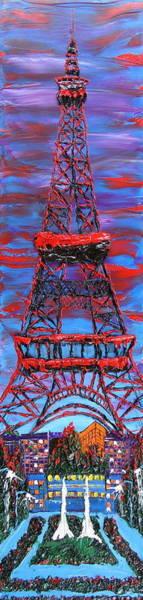 Wall Art - Painting - The Eiffel Tower 2 by Dunbar's Modern Art