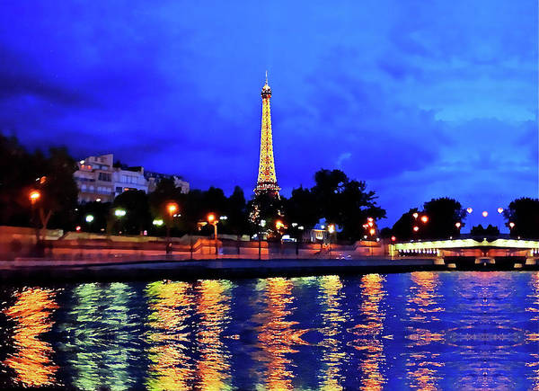 Photograph - The Eiffel Tower Aglow by Don Mercer