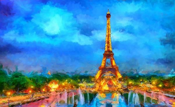 Digital Art - The Eiffel Tower by Caito Junqueira