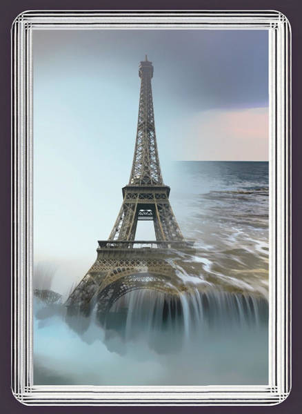 The Eiffel Tower In Montage Art Print