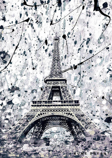 European Vacation Mixed Media - The Eiffel Tower by Kume Bryant