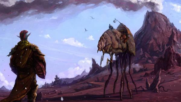 Landscape Digital Art - The Elder Scrolls IIi Morrowind by Maye Loeser