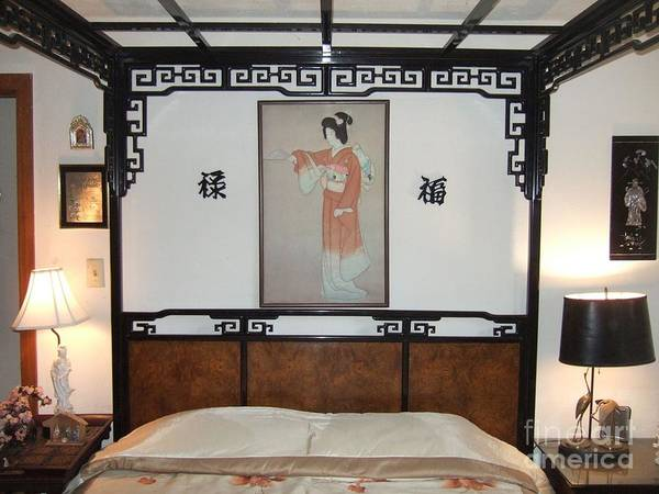 Photograph - The Elegant Oriental Bedroom by Delores Malcomson