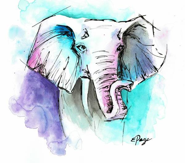 Painting - The Elephant King by Emily Page
