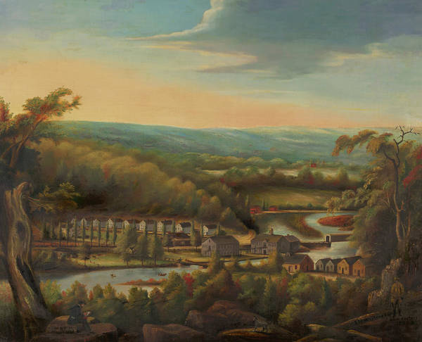 Oil Industry Painting - The Eli Whitney Gun Factory by William Giles Munson