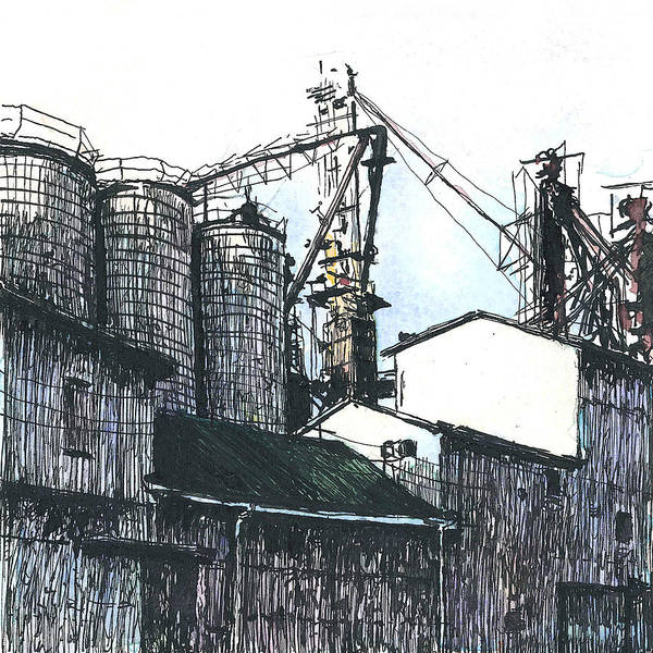 Meijer Painting - The Elwell Mill #2 by Steven Hawkes
