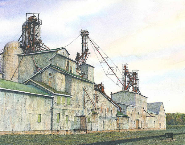Meijer Painting - The Elwell Mill by Steven Hawkes