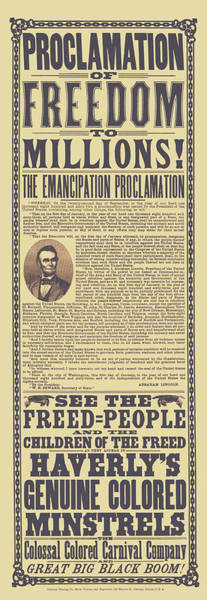Wall Art - Mixed Media - The Emancipation Proclamation Broadside by War Is Hell Store