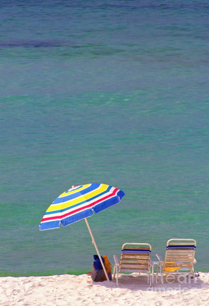 Photograph - The Emerald Coast With Beach Chairs by Thomas R Fletcher