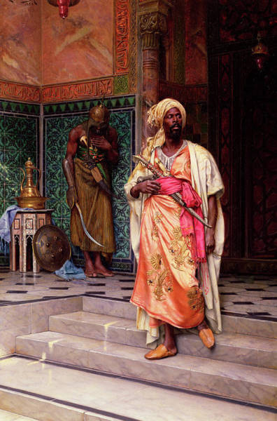 Subject Wall Art - Painting - The Emir, 1883 by Ludwig Deutsch