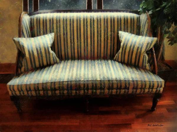 Painting - The Empire Settee by RC DeWinter