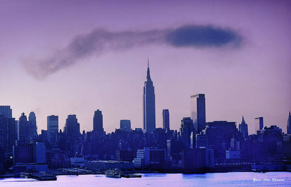 Photograph - The Empire State Building In New York At 6 A. M. In January by Yuri Lev