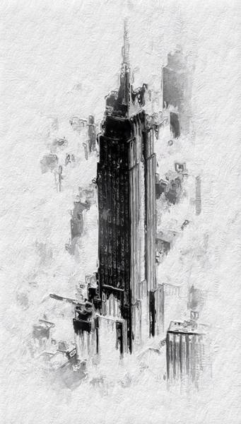 Empire State Building Digital Art - The Empire by Steve K